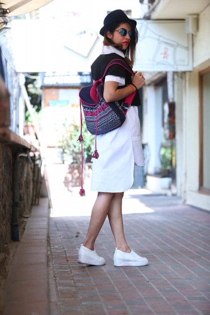 summer fashion, colossal closet, mansi wadhwa, fashion blogger, white dress, aashima behl, summer trends, monochrome