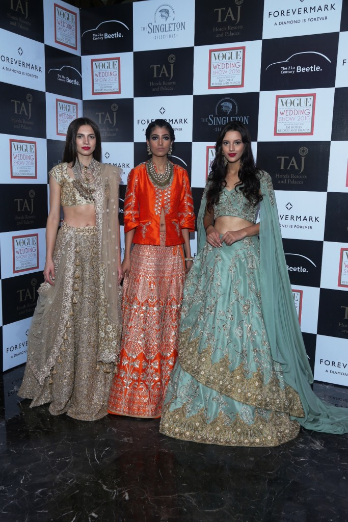 Models wearing designer and jeweller collections showcased at Vogue Wedding Show 2016 at Taj Palace, New Delhi (1)