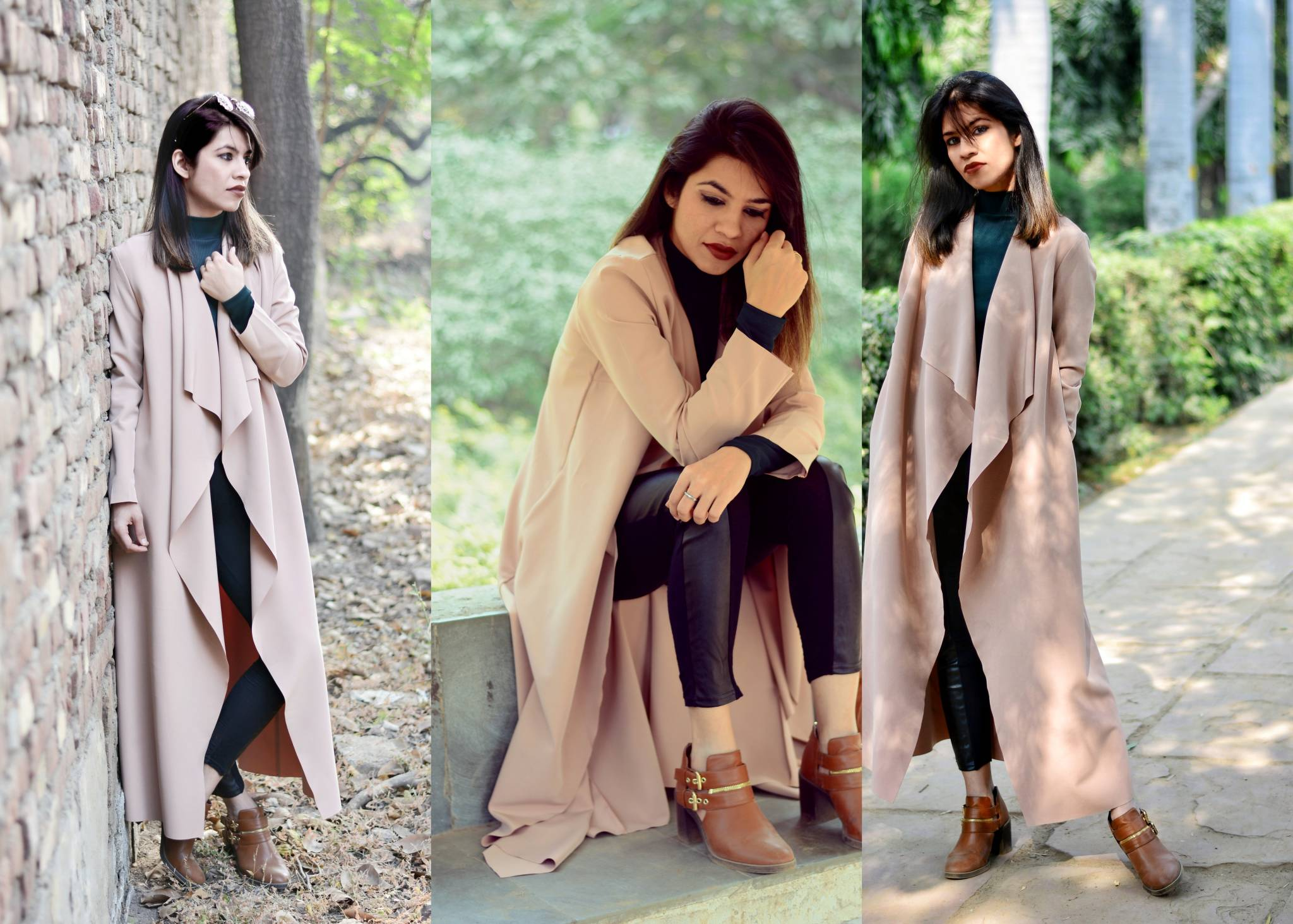 winter fashion, trench coat