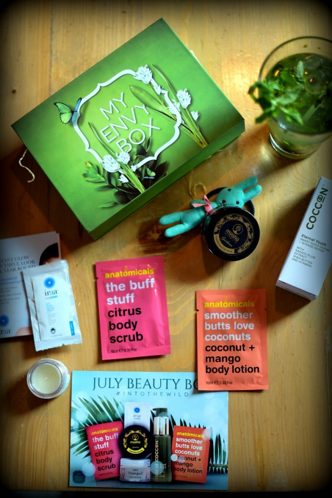 Vert, natural skincare products, solid perfumes, my envy box, my envy box july, tropical beauty box, july beauty box, into the wild, skincare, subscription box
